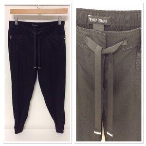White House Black Market linen jogger pants